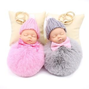 Baby Pom Pom Key Chain Purse Accessory New Mom Bab